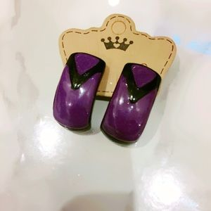 Purple and Black Clip ONs